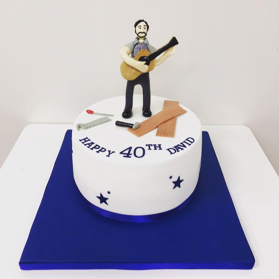 Wondrous 40Th Birthday Cake Guitar Player Luscious Lovelies Cakes Personalised Birthday Cards Akebfashionlily Jamesorg