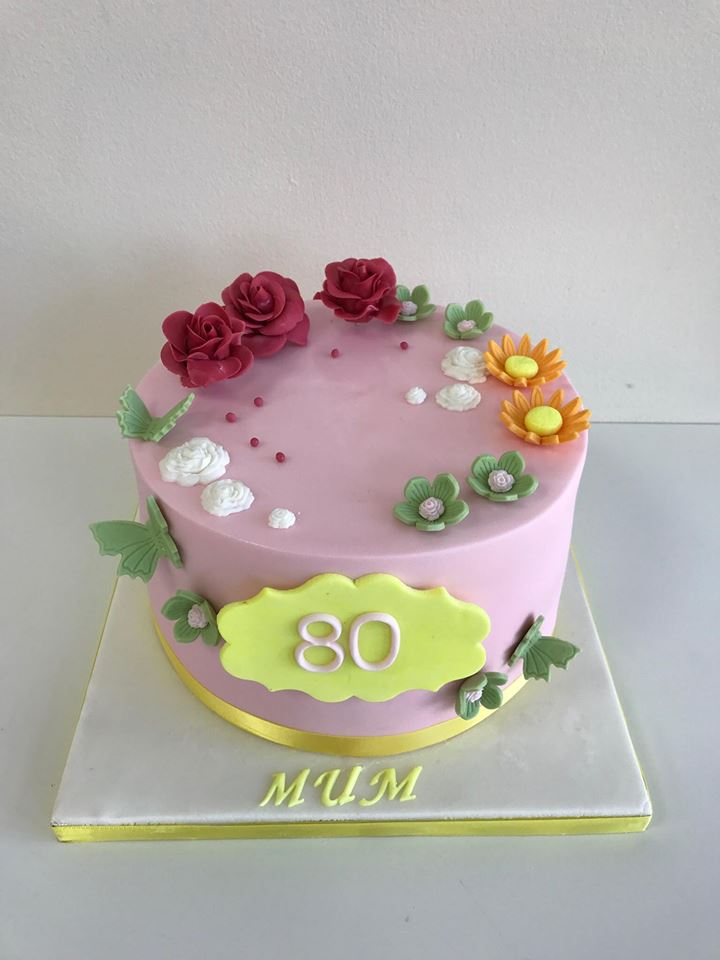 Outstanding 80Th Birthday Cake Pink Woman Luscious Lovelies Cakes Funny Birthday Cards Online Alyptdamsfinfo