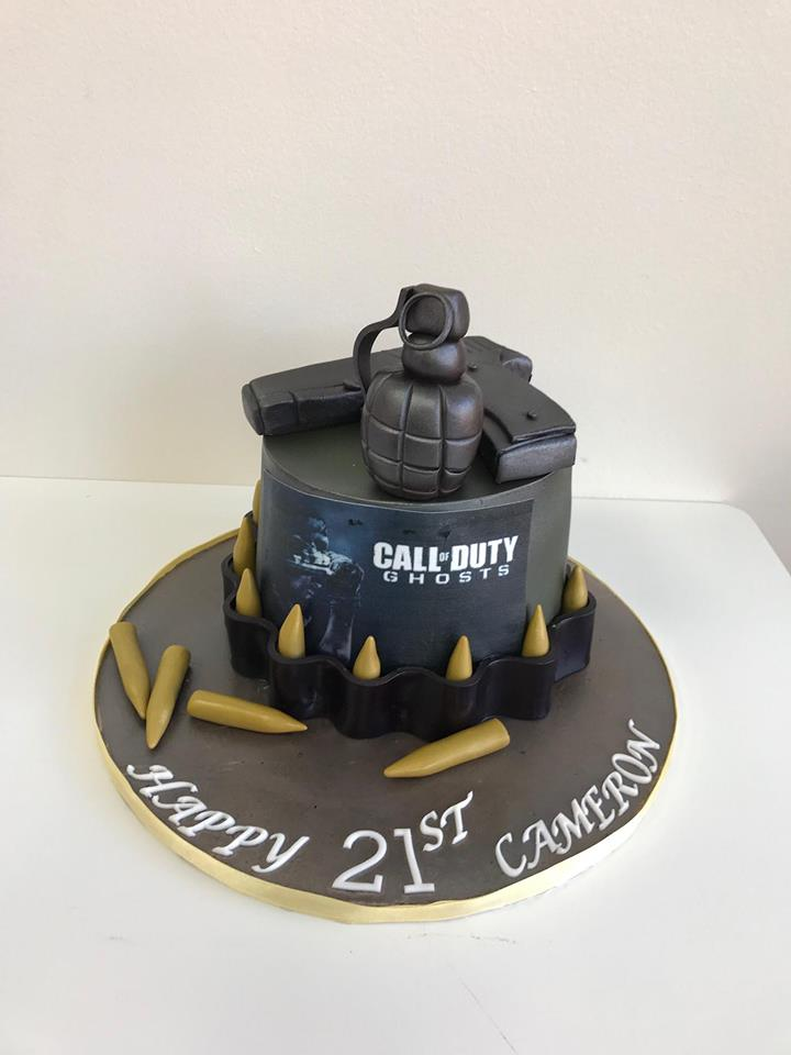 Fantastic Call Of Duty Birthday Cakes Luscious Lovelies Cakes Funny Birthday Cards Online Inifodamsfinfo