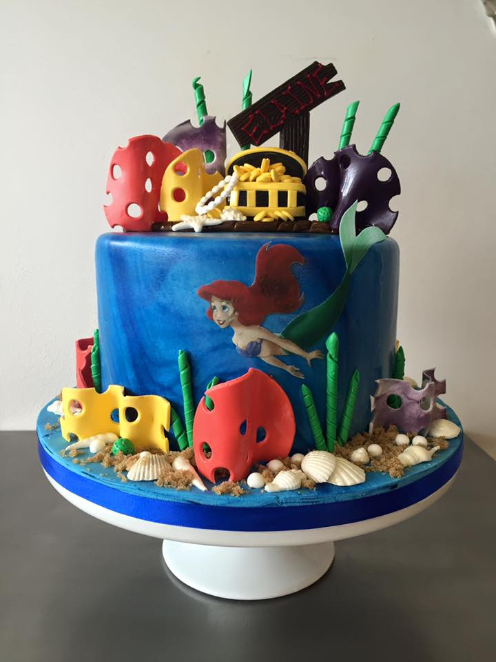 Brilliant Little Mermaid Birthday Cake Luscious Lovelies Cakes Funny Birthday Cards Online Alyptdamsfinfo