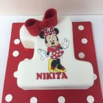 Minnie Mouse Number 1 Birthday Cake