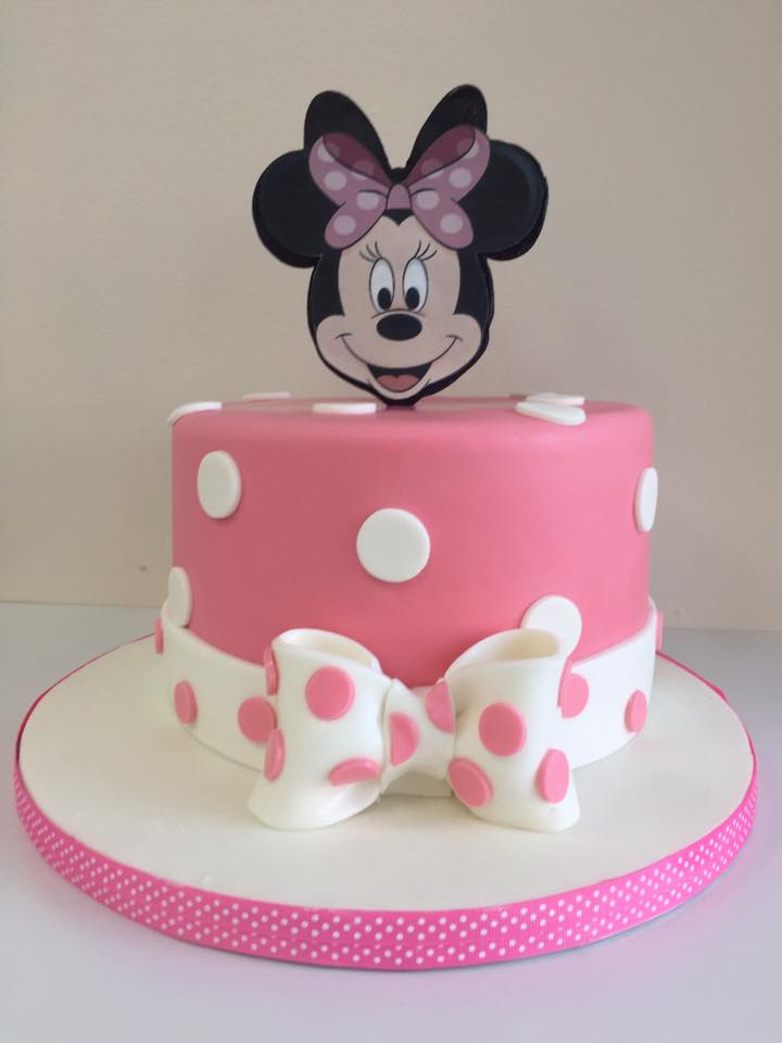 Terrific Minnie Mouse Pink Birthday Cake Luscious Lovelies Cakes Funny Birthday Cards Online Alyptdamsfinfo