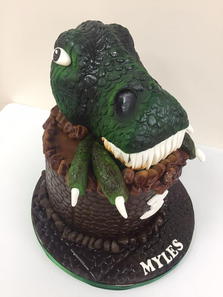 Admirable T Rex Birthday Cake Luscious Lovelies Cakes Personalised Birthday Cards Paralily Jamesorg