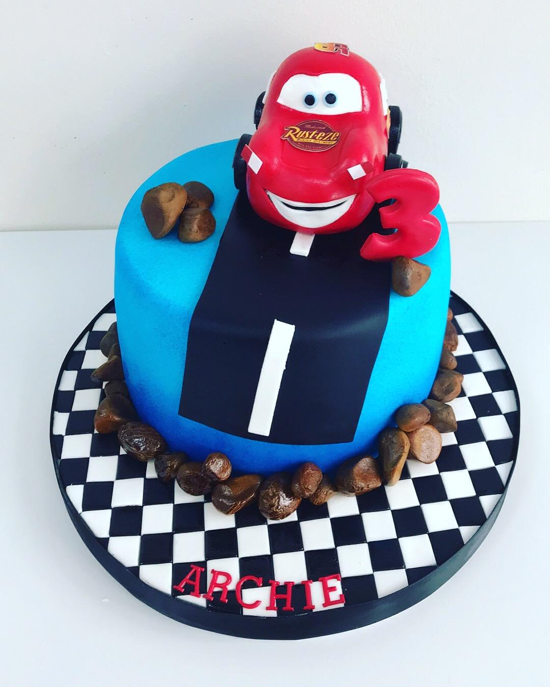 Prime Disney Cars Childrens Birthday Cake Luscious Lovelies Cakes Funny Birthday Cards Online Alyptdamsfinfo