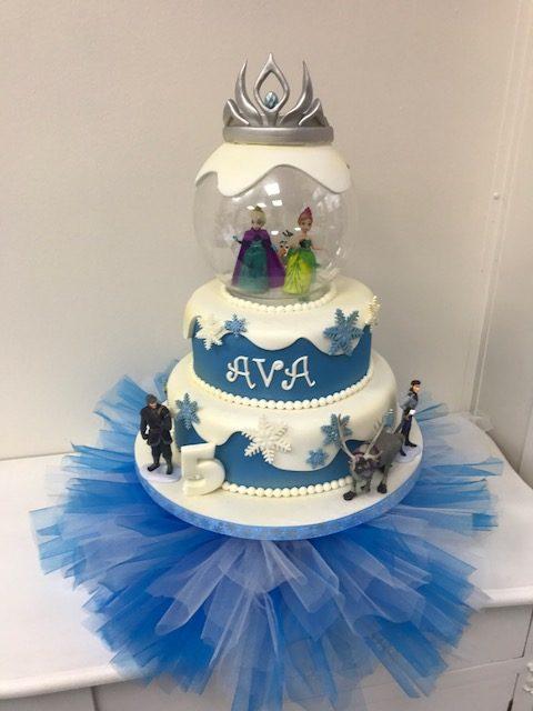 Surprising Frozen Disney Childrens Birthday Cake Luscious Lovelies Cakes Funny Birthday Cards Online Elaedamsfinfo