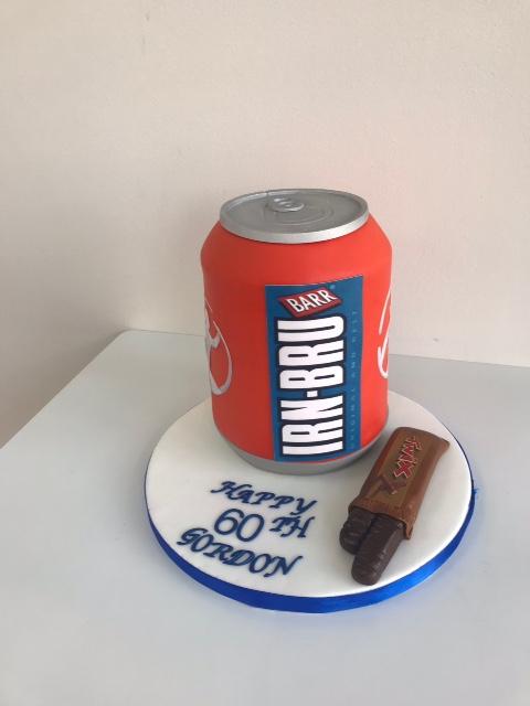 Peachy Irn Bru Can Twix Chocolate Novelty Birthday Cake Luscious Funny Birthday Cards Online Fluifree Goldxyz