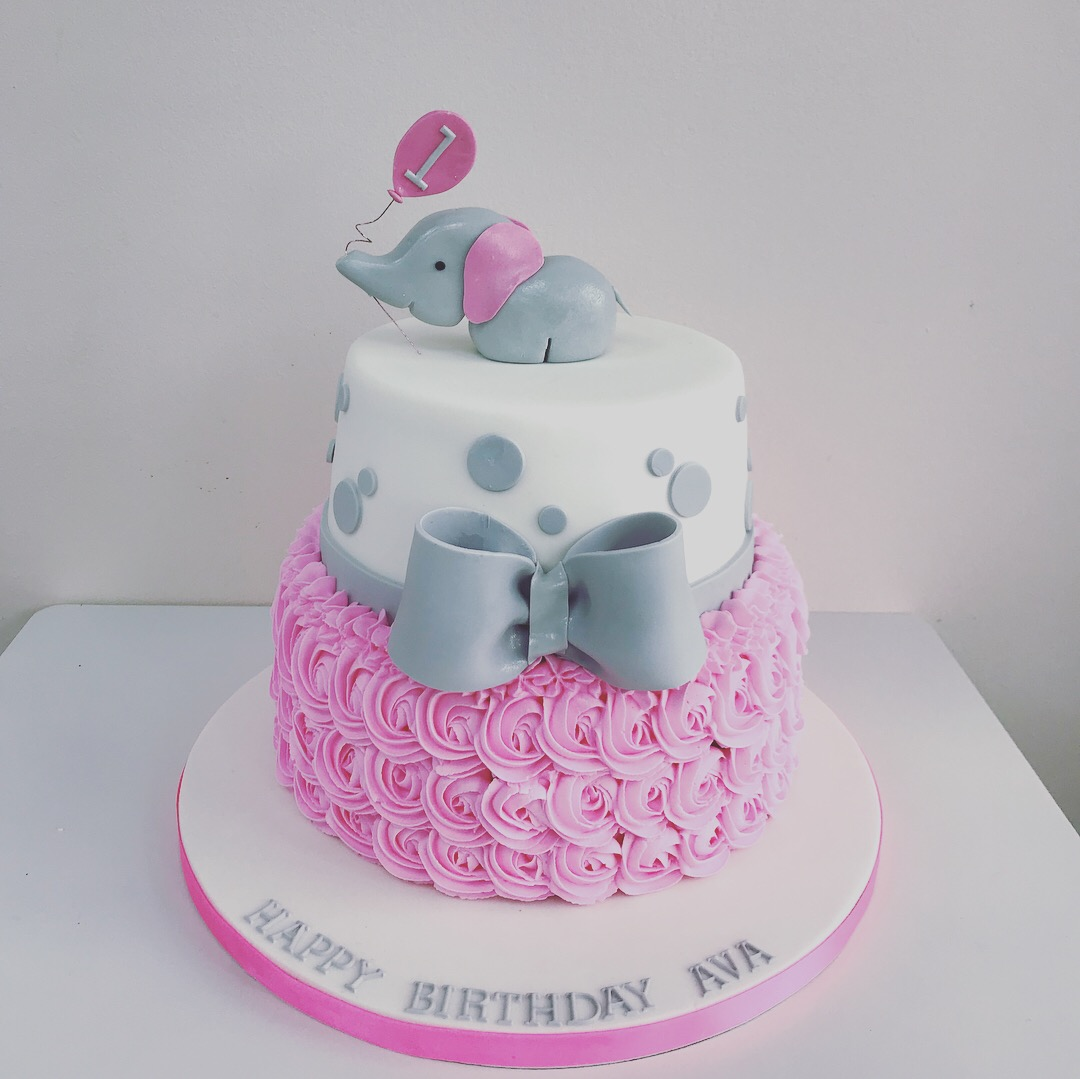 Stupendous Jojo Bow Childrens Birthday Cake Luscious Lovelies Cakes Personalised Birthday Cards Epsylily Jamesorg