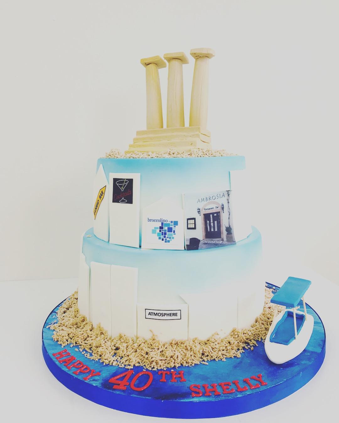 Fine Sailing 2 Tier Birthday Cake Luscious Lovelies Cakes Personalised Birthday Cards Paralily Jamesorg