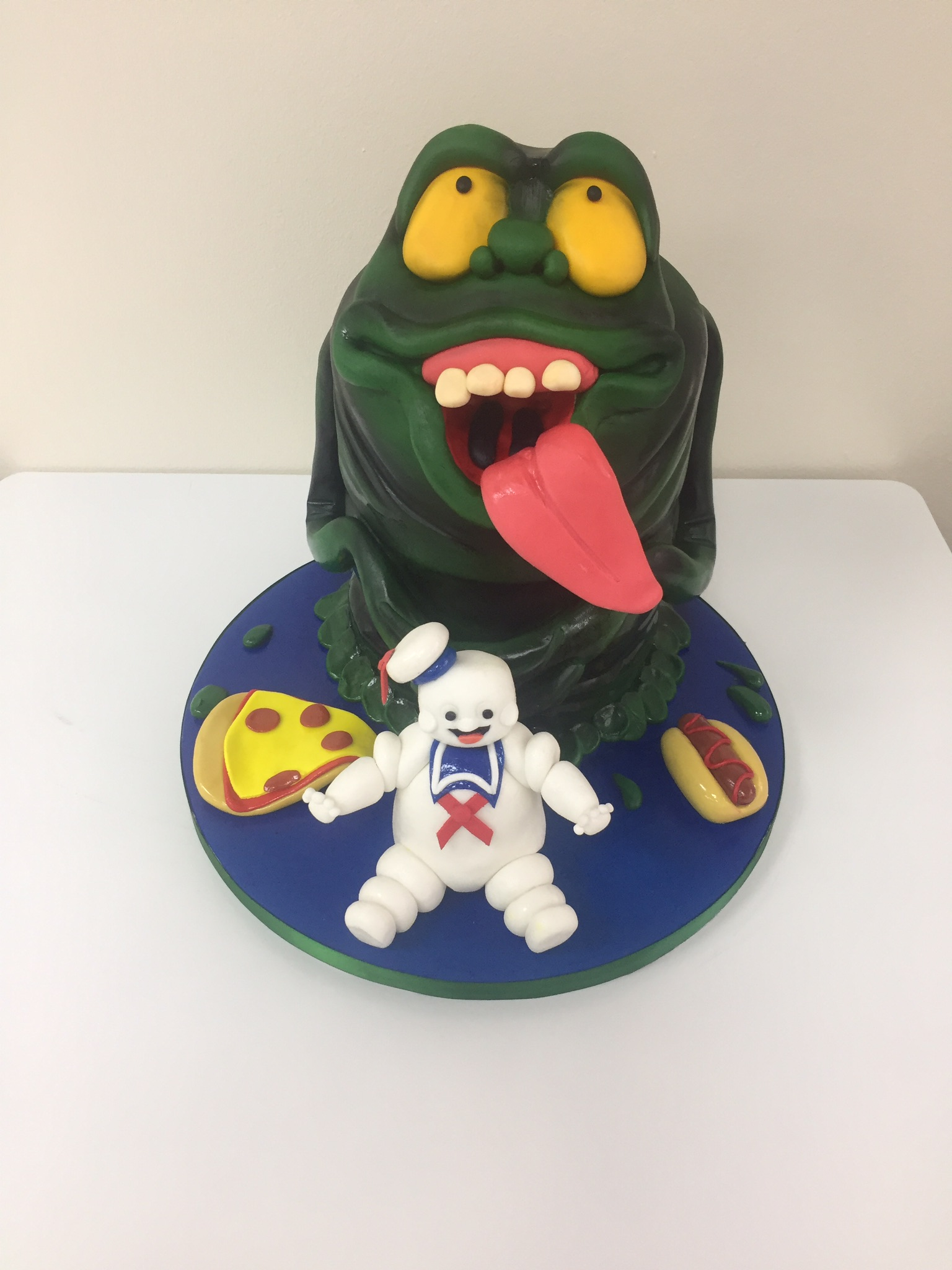 Outstanding Slimer Ghostbusters Novelty Birthday Cake Luscious Lovelies Cakes Funny Birthday Cards Online Alyptdamsfinfo