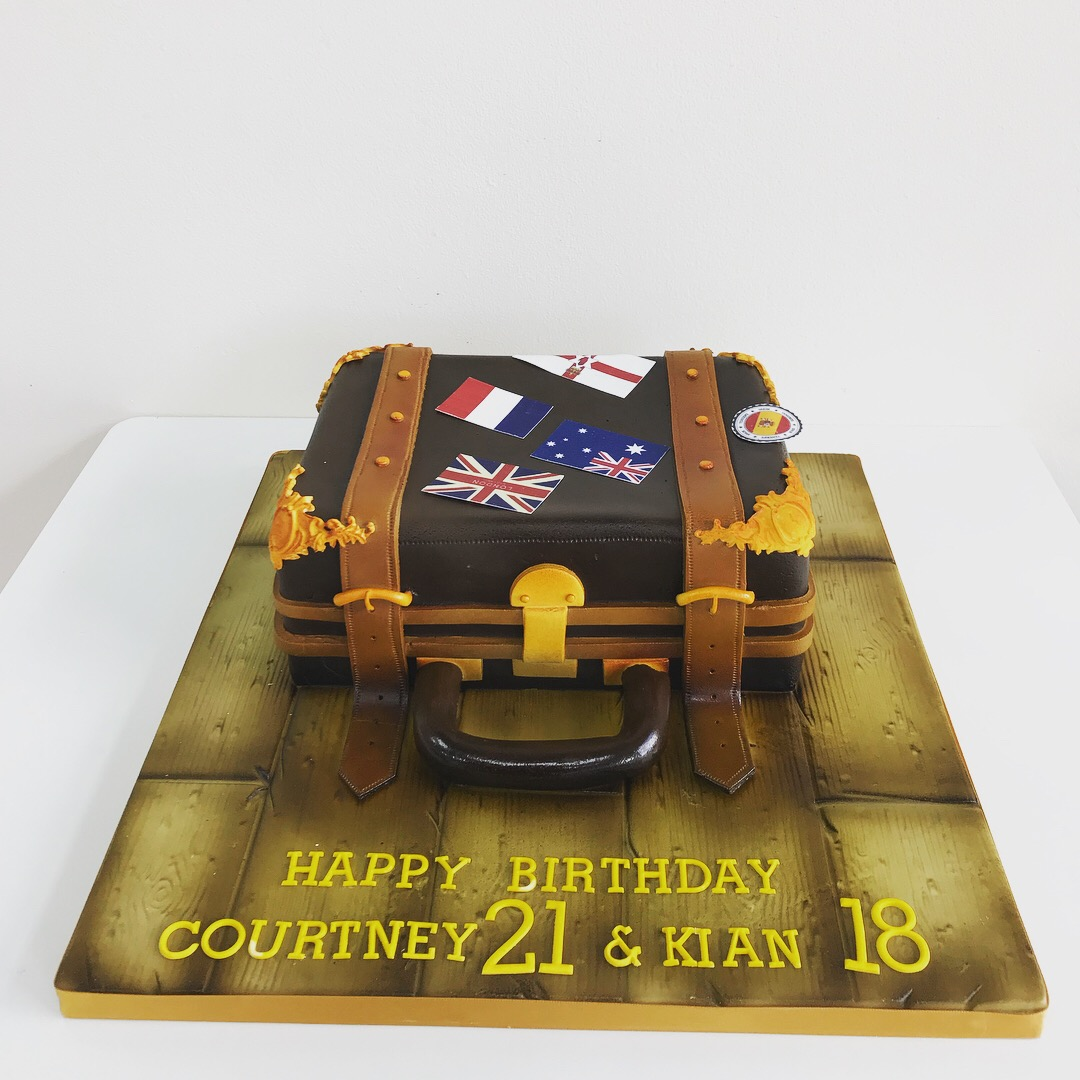 Suitcase Travellers Novelty Birthday Cake Luscious Lovelies Cakes
