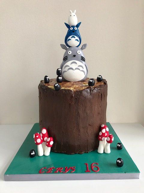 Super Totoro Childrens Birthday Cake Luscious Lovelies Cakes Funny Birthday Cards Online Aeocydamsfinfo